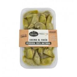 Alcachofas troceadas cocidas al vacio