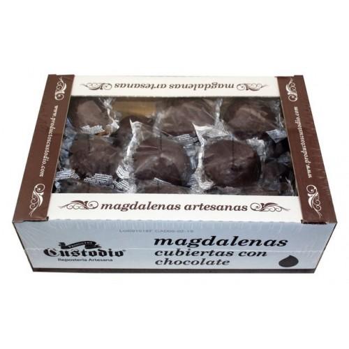 Magdalenas Artesanas cubiertas de chocolate