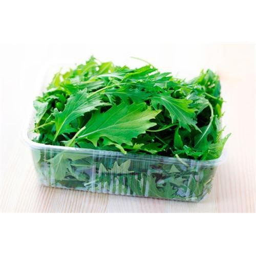 Mizuna verde bandeja