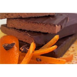 Turrón chocolate, aceite y naranja